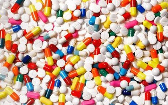 Assorted pills, full frame